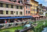 France annecy outdoor cafe along thiou canal rect161